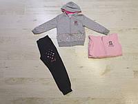 Трикотажный костюм 2 в 1 для девочек оптом, Sincere, 116-146 см,  № LL-2632, фото 1