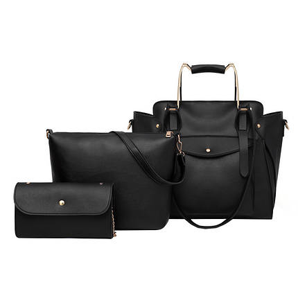 Набор сумок 3 в 1 Amali Cat Black, фото 2