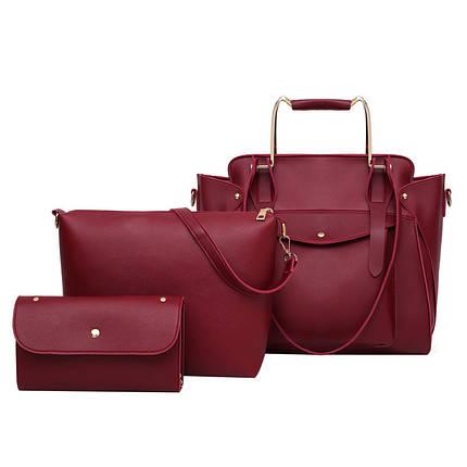 Набор сумок 3 в 1 Amali Cat Red eps-6151, фото 2