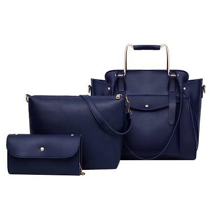 Набор сумок 3 в 1 Amali Cat Navy Blue, фото 2