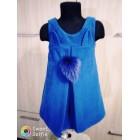 Платье - сарафан на девочку Пушок синее