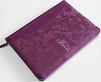 Біблія формат 075 zti фіолетова (орнамент) українською