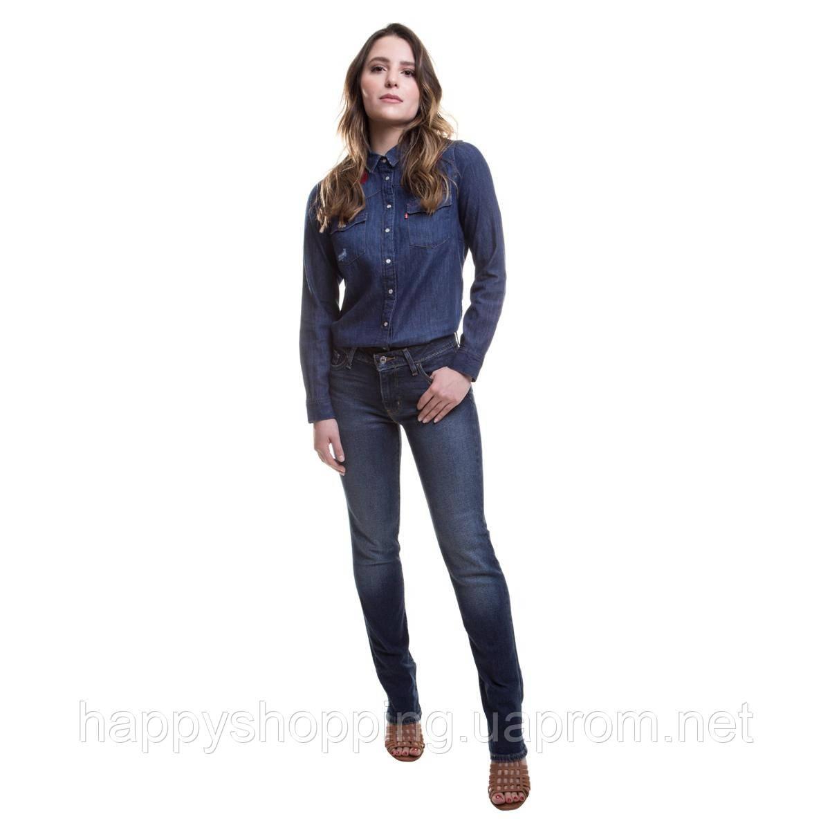 Женские оригинальные прямые джинсы 714 straight популярного американского бренда Levi's