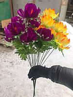 Искусственные цветы разные цвета в упаковке , фото 1