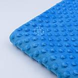 Плюш minky блакитного кольору М-11137, фото 5