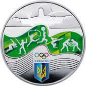Ігри ХХХІ Олімпіади Срібна монета 10 гривень  унція срібла 31,1 грам