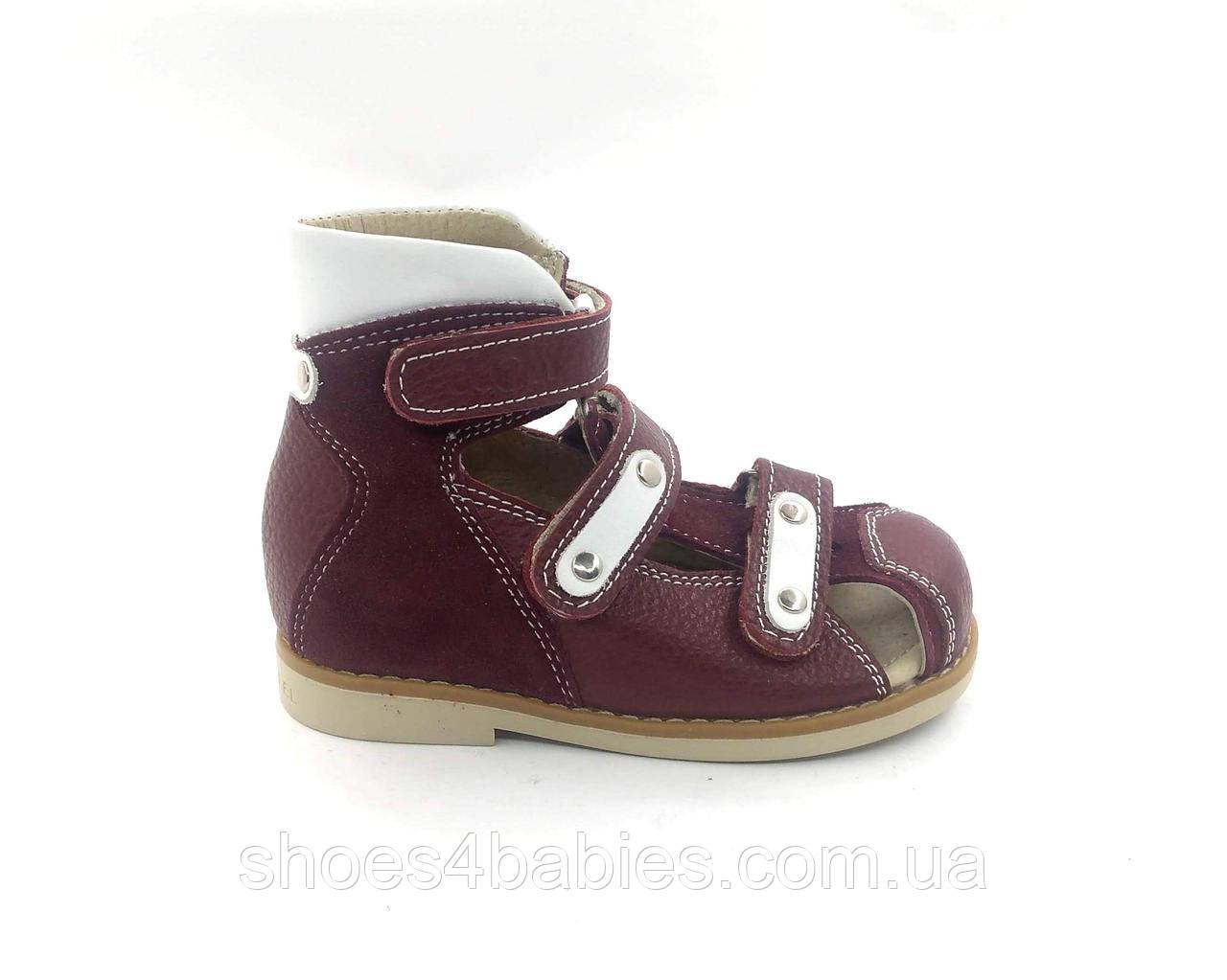 Босоножки ортопедические для девочки с закрытым носком р.24 - 16см модель 006RV