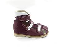 Босоножки ортопедические для девочки с закрытым носком р.24 - 16см модель 006RV, фото 1