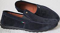 Massimo Dutti! Мужские замшевые синие мокасины комфортная обувь реплика удобные и смотрятся Супер!