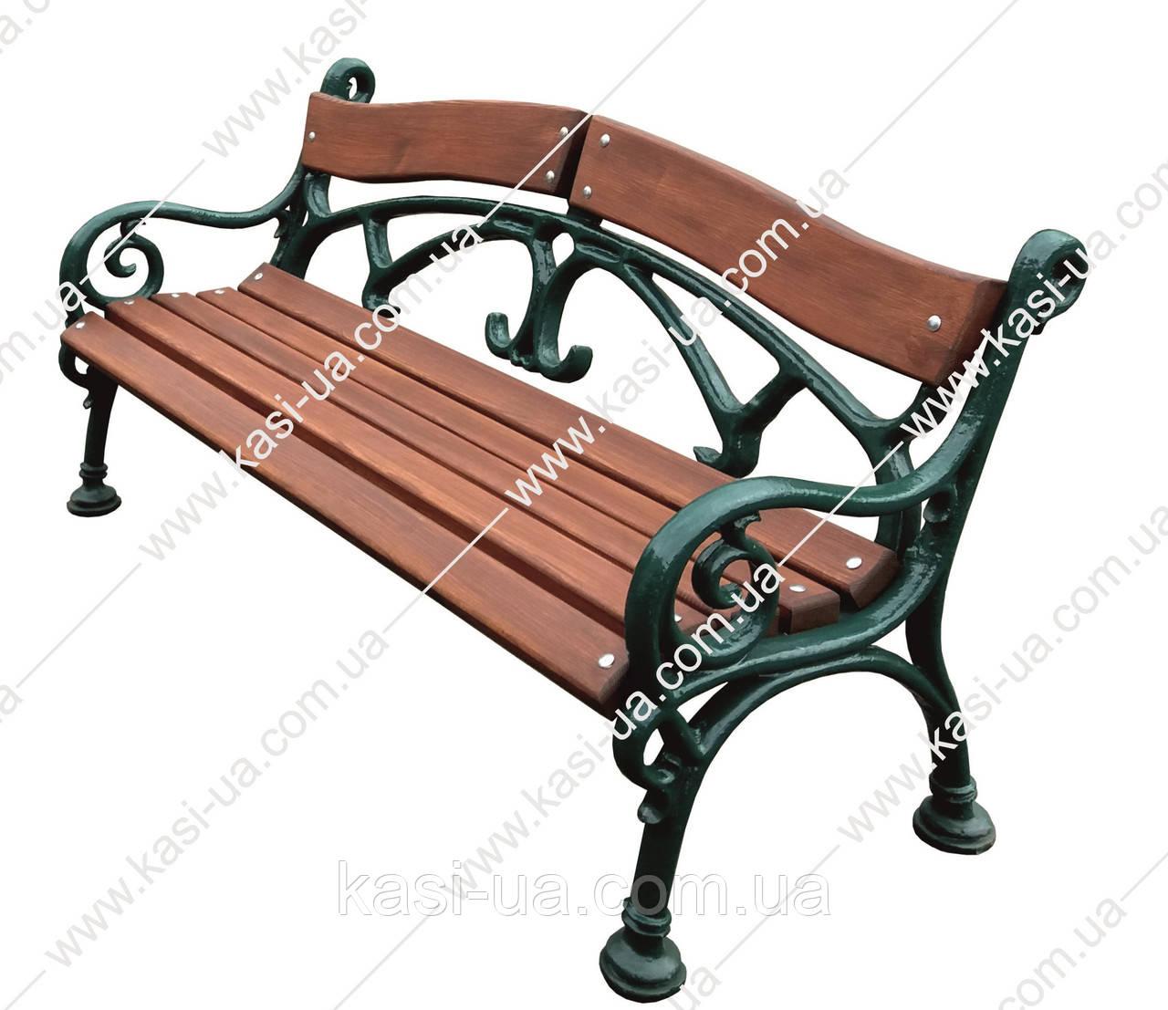 Лавка садово-парковая чугунная со спинкой №17
