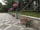 Лавка садово-парковая чугунная со спинкой №17, фото 2