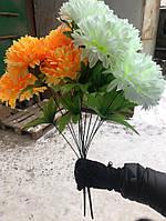 Искусственные цветы разные цвета в упаковке Высокий пышный букет, фото 1