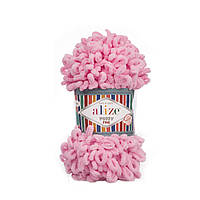 Пряжа Alize Puffy Fine 39 розовый (Пуффи Файн Ализе) для вязания без спиц руками