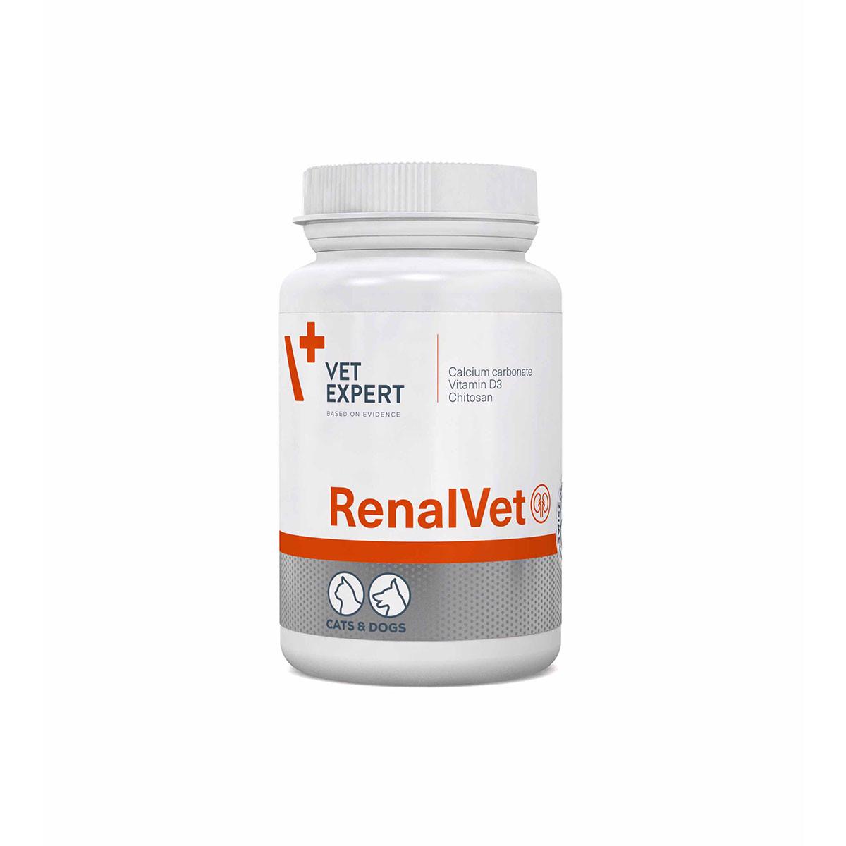 Капсули VetExpert RenalVet ВетЕксперт РеналВет для собак і кішок з нирковою недостатністю 60 шт