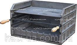 Мангал-гриль (барбекю-комплекс) чугунный без ножек №8