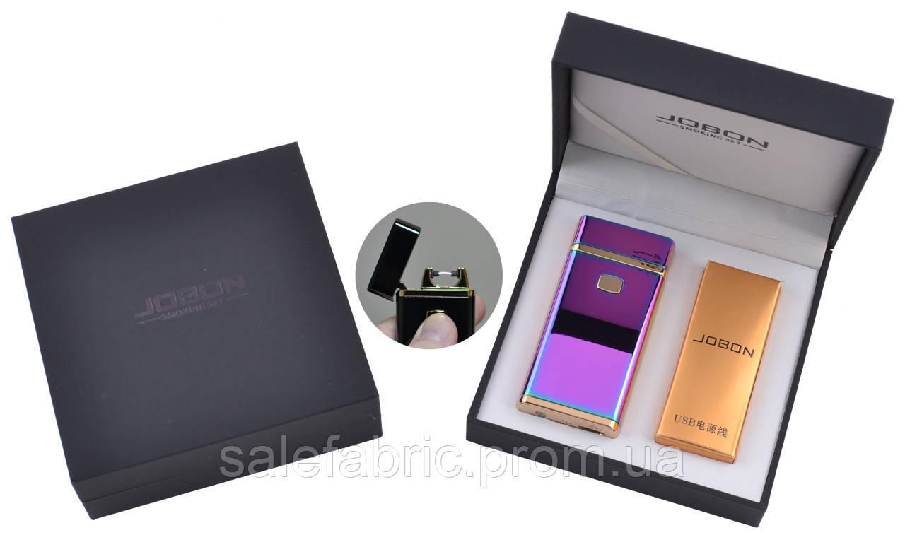Электроимпульсная зажигалка в подарочной упаковке Jobon (USB) №XT-4883-1