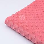 Плюш minky кораллового цвета М-11132, фото 5