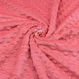 Плюш minky кораллового цвета М-11132, фото 3