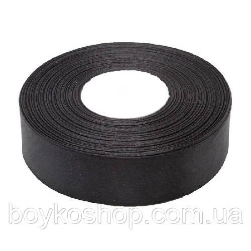 Лента атласная черная 2,5 см