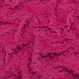 Плюш minky розово-малинового цвета М-11134, фото 7