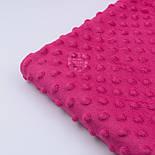 Плюш minky розово-малинового цвета М-11134, фото 3