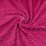 Плюш minky розово-малинового цвета М-11134, фото 5