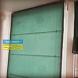 Римские шторы с ткани на балкон, фото 5