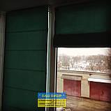 Римские шторы с ткани на балкон, фото 7
