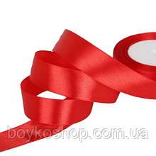 Лента атласная красная 2,5 см