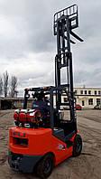 Газовый погрузчик HELI CPQYD25RC1H, 2,5 тонны, мачта FFT 4500, вилочный погрузчик газ/бензин