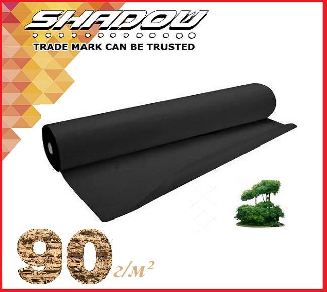 """Чёрное 4% агроволокно 90 г/м² (1.07 х 50 м.) ТМ """"Shadow"""" (Чехия)"""