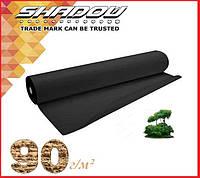 """Чёрное 4% агроволокно 90 г/м² (1.07 х 50 м.) ТМ """"Shadow"""" (Чехия), фото 1"""