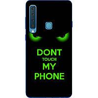 Бампер силиконовый чехол для Samsung Galaxy A9 2018 с картинкой Зеленые глаза