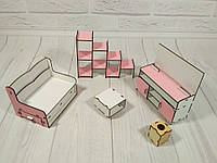 Набор кукольной мебели Гостиная (5 предметов)