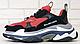 Женские кроссовки Balenciaga Triple S Red Black Многослойная подошва, фото 2