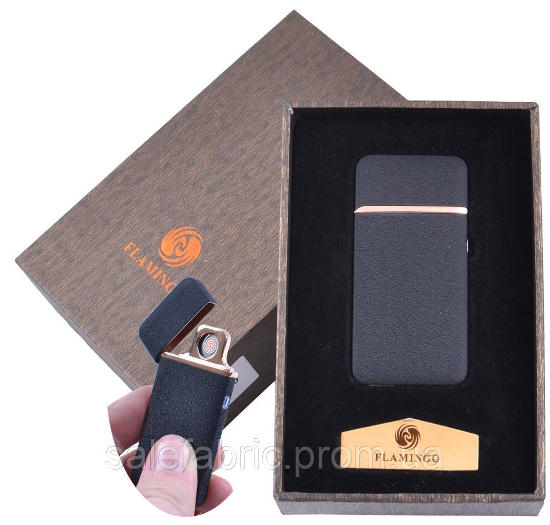 """USB  зажигалка в подарочной упаковке """"Flamingo"""" (Двухсторонняя спираль накаливания) №XT-4880-4"""