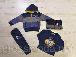 Спортивный костюм для мальчиков тройка Sincere 80-110 p.p.