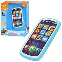 Дитячий навчальний телефон, дитячий смартфон, запис голосу, музика, звуки тварин, WinFun 0740 NL