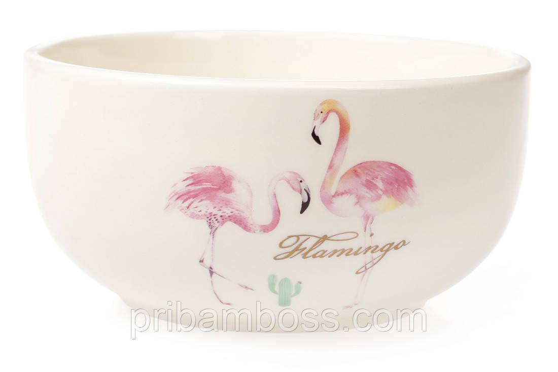Пиала керамическая 550мл, Розовый Фламинго