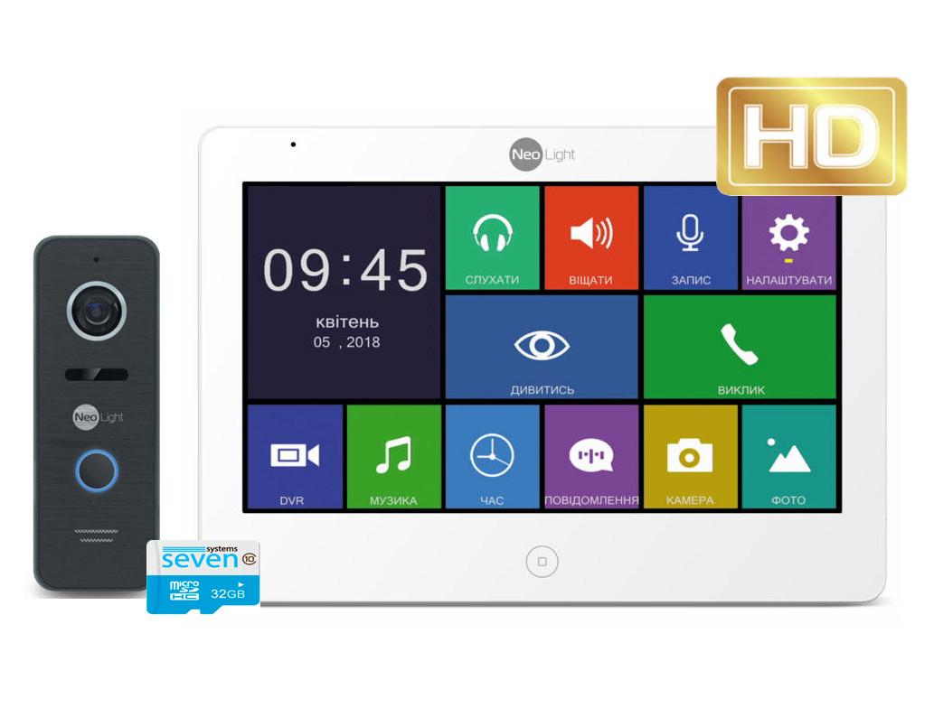 Комплект видеодомофон с вызывной панелью MEZZO MAXI HD black