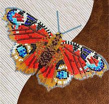Бабочки из бисера на водорастворимом флизелине