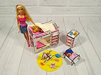 Набор кукольной мебели Детская (4 предмета), фото 1