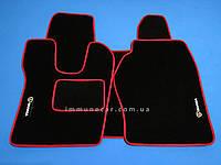 Авто коврики велюровые в кабину SCANIA R-серия с 2004 г. красные