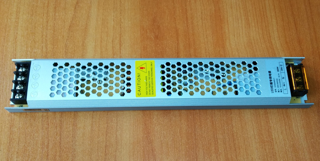 БП c перфорацией 12V SLIM 200W 16,7A IP20 алюминий (LT)