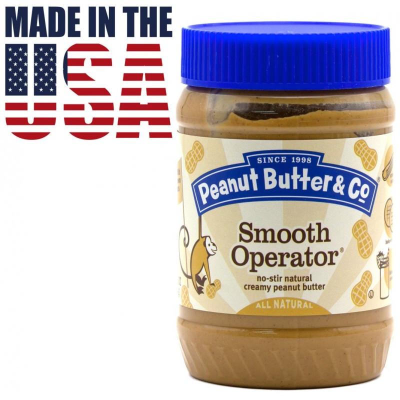 Арахисовая паста с кусочками арахиса Peanut Butter & Co. Smooth Operator 462 грамм. США
