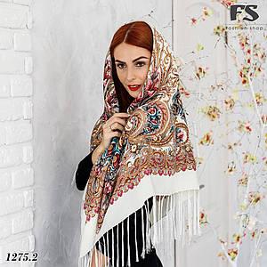 Павлопосадский кремовыйй платок  Изысканная
