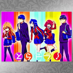 Плакат Аниме Toradora 01