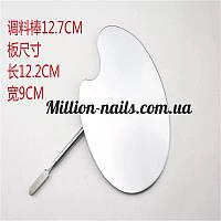 Набор маникюрный , металлический шпатель и палитра для смешивания красок, фото 1