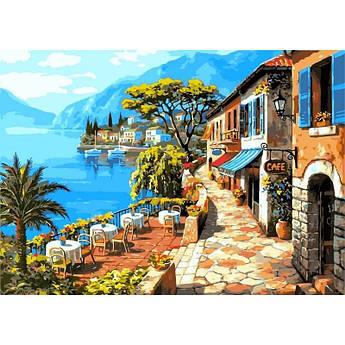 """Картина по номерам """"Кафе у моря. Худ. Ким Сунг"""", 50x65 см Babylon"""
