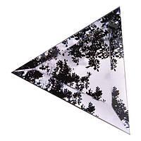 Плитка зеркальная треугольник зеленая, бронза, графит фацет, фото 1